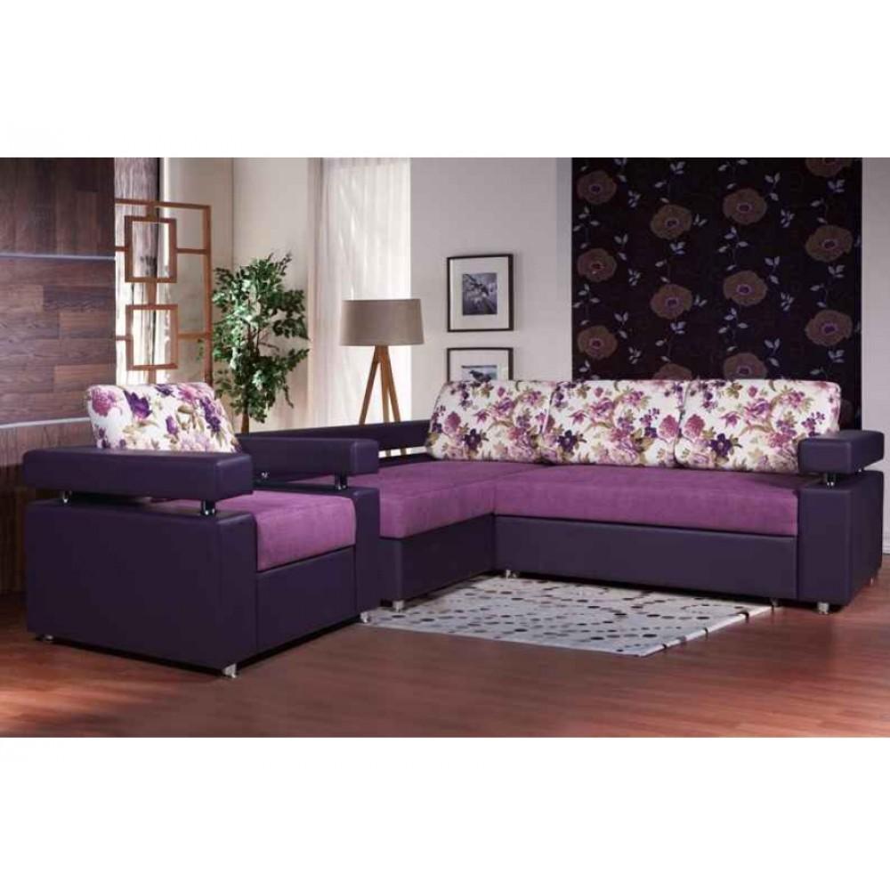 Угловой диван раскладной Виктория-3 НПБ
