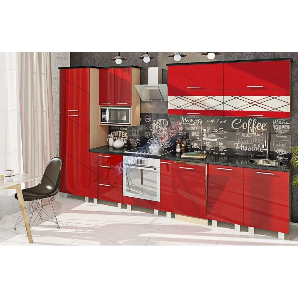"""Кухня """"Крашеный высокий глянец"""" KX-6726"""