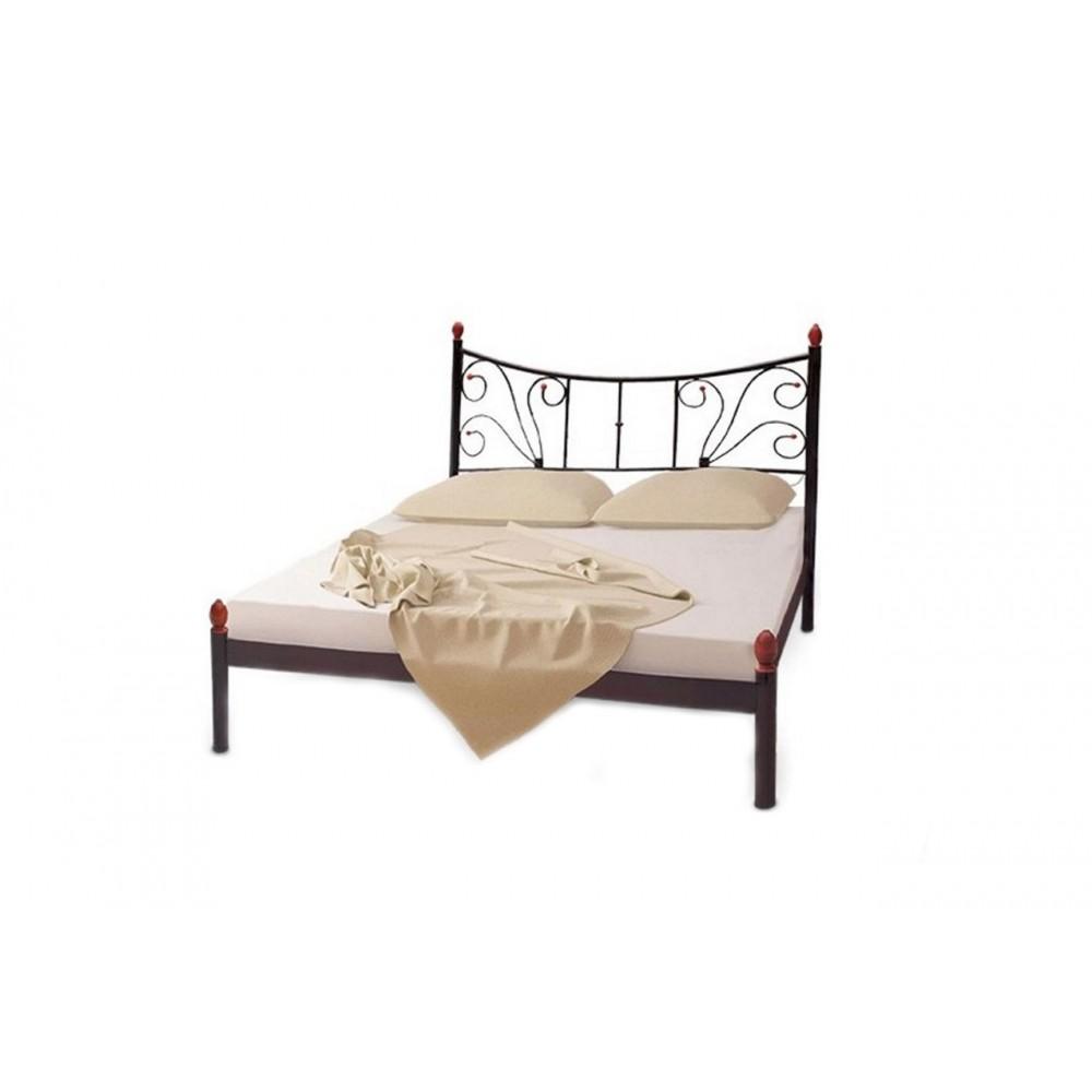 Кровать металлическая калипсо быльцами 2  1600*2000
