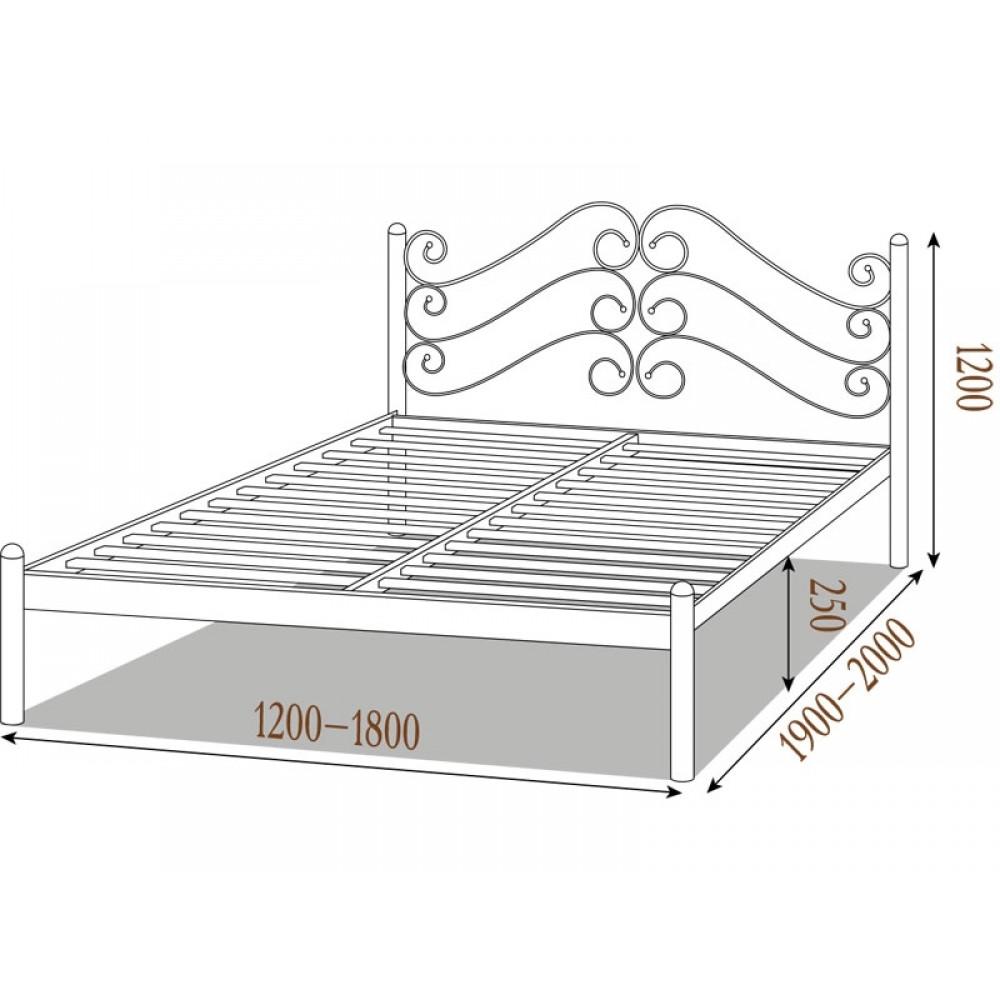 Кровать Аадель металлическая 1600*2000