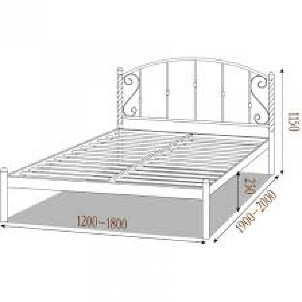 Кровать металлическая шарлотта 1600*2000