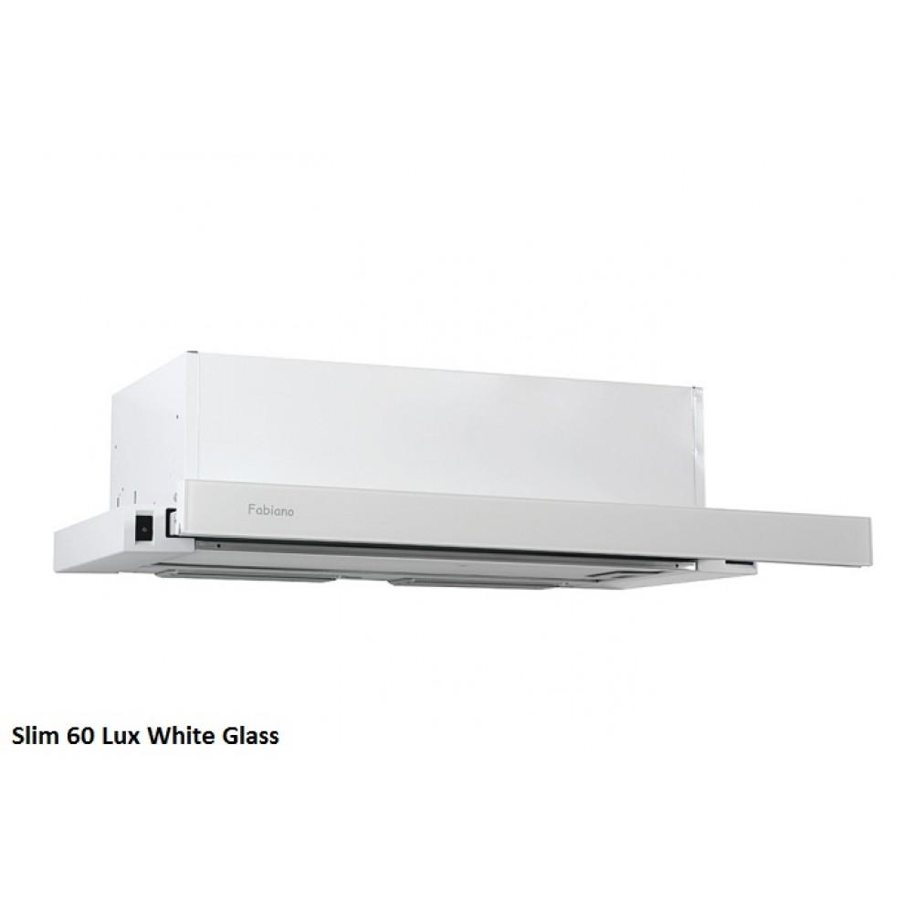 Встраиваемая вытяжка Slim 60 Lux White Glass