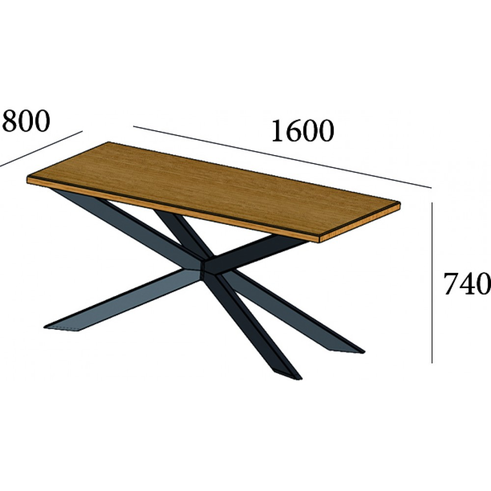 Стол обеденный Икс 1600*800